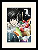 Death Note - L Ice Cream - Gerahmter Kunstdruck | 30 x 40 cm | Originales Merchandise