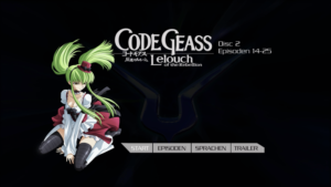 Menu Code Geass – Lelouch Of The Rebellion