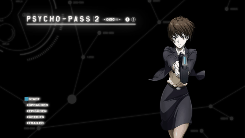 Psycho Pass 2 DVD Menu