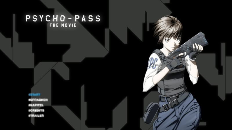 Psycho Pass – The Movie Menu