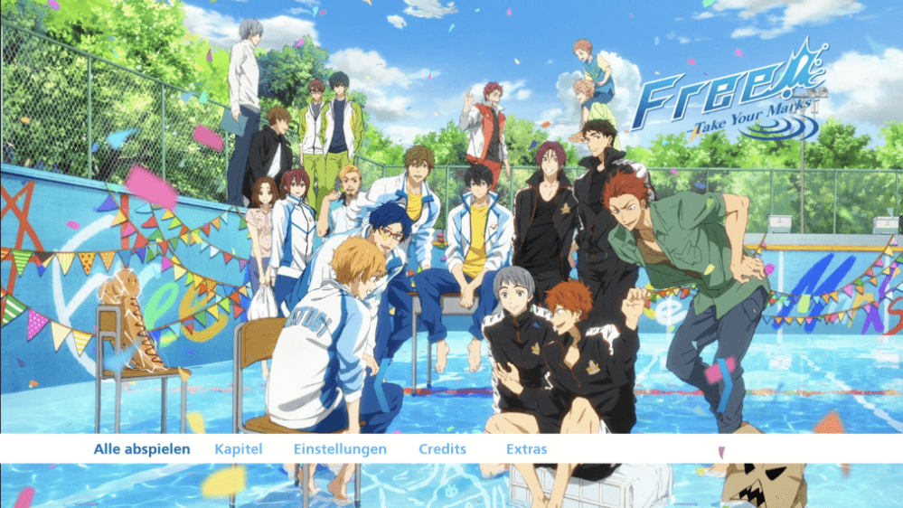 Free! – Take Your Marks – Menu 1