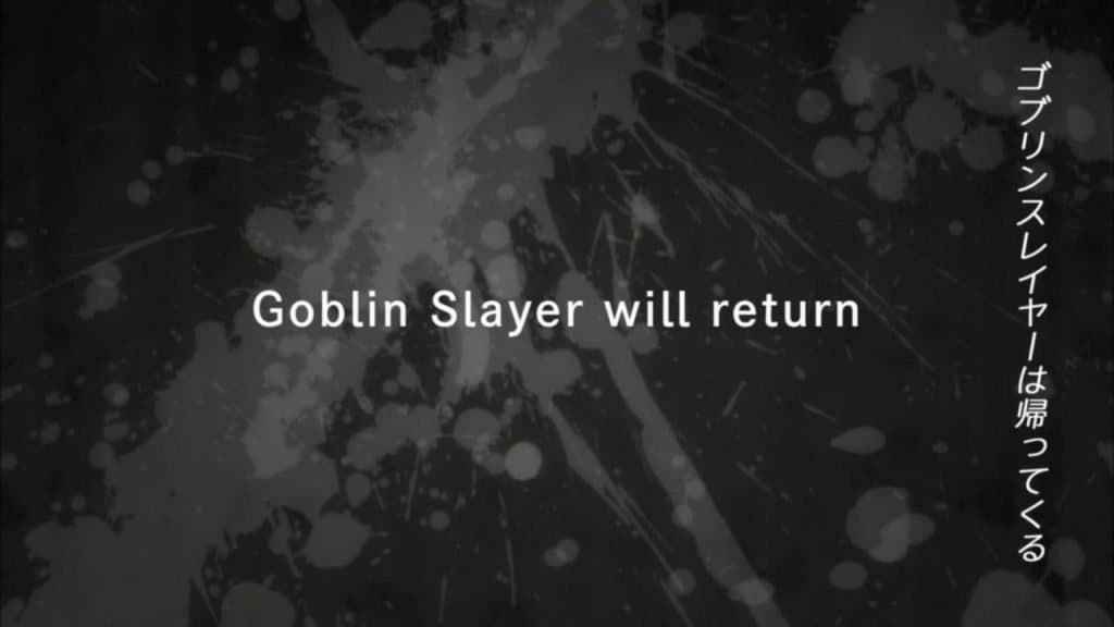 Goblin Slayer Will Return