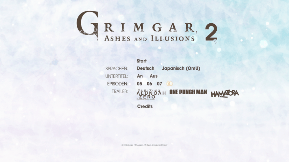 Grimgar, Ashes And Illusions Menu