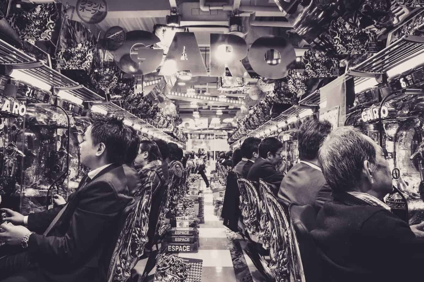 Pachinko Halle in Japan