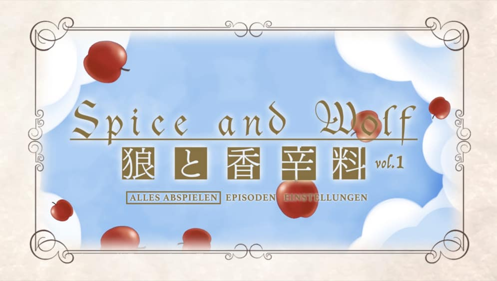 Spice And Wolf Menu