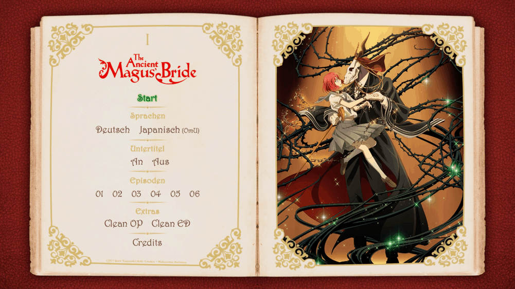 The Ancient Magus Bride Menu